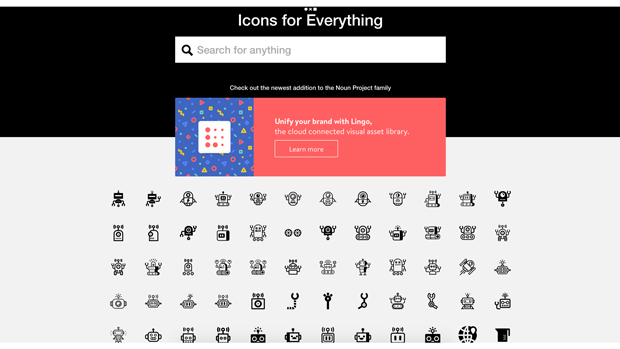 Noun Project 一定會讓你滿意又驚喜的icon網站,以黑白為主,種類包羅萬象