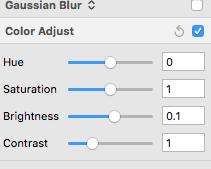 Sketch 的 Color Adjust