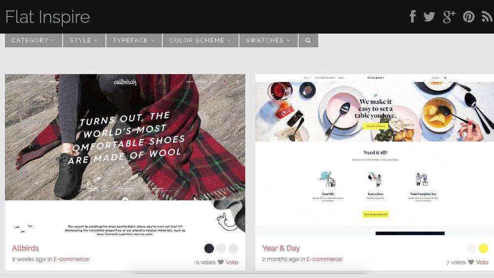 Flat Inspire   依照字型和主題顏色分類,選擇不同類型的設計作品