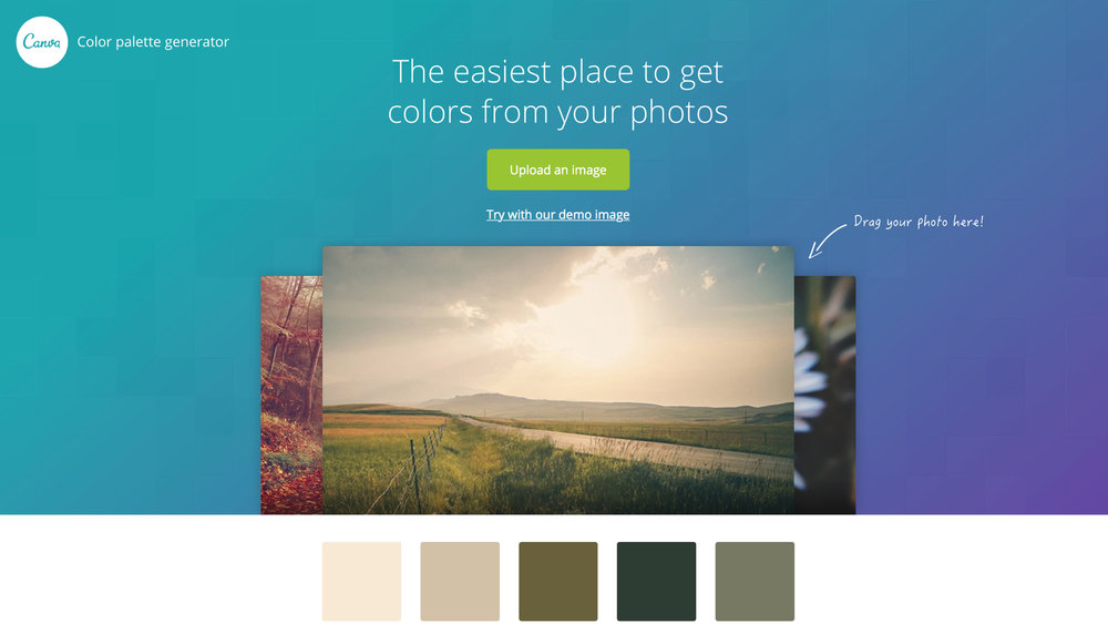 Color palette generator   同樣為圖片取色工具,不同的系統會有不一樣的色彩搭配結果
