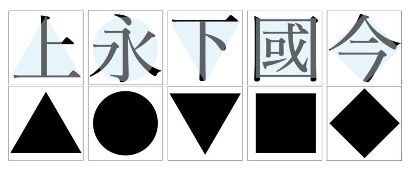 字體設計第一課課題:幾何圖形調整練習