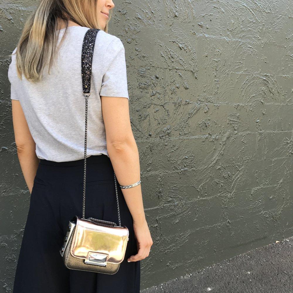 Mimco Trance Mini Hip bag in Rose Gold.