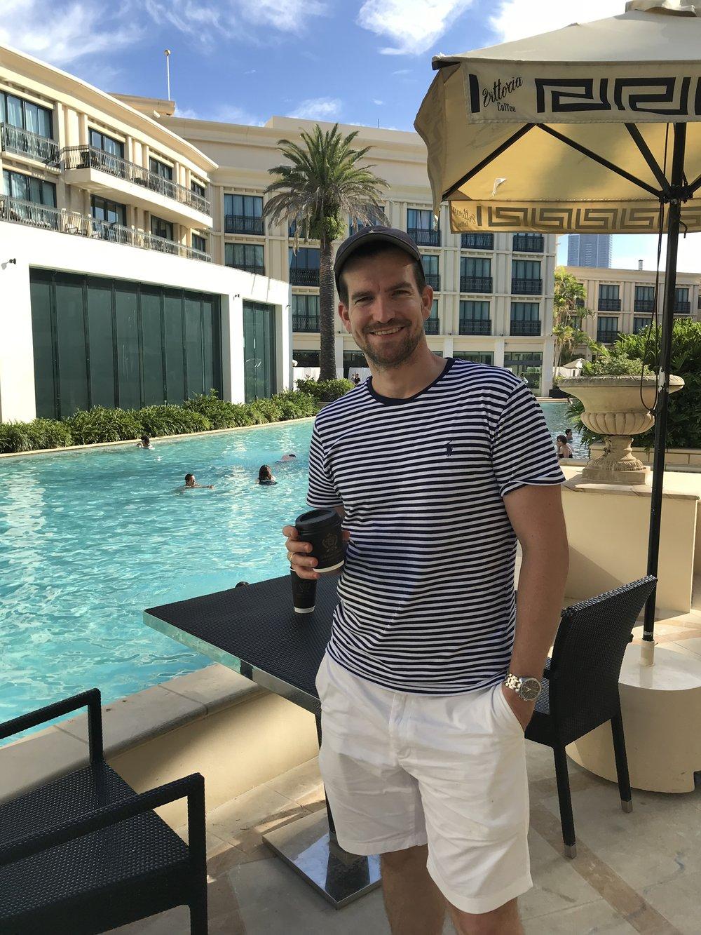 The handsome husband!