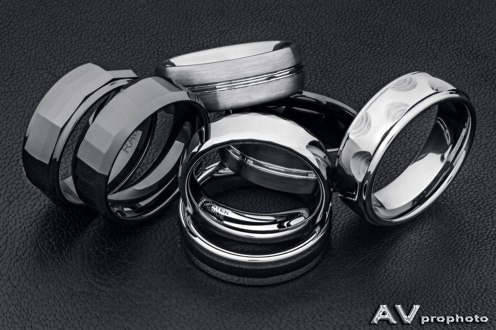 Tungsten and Ceramic Rings by AVprophoto