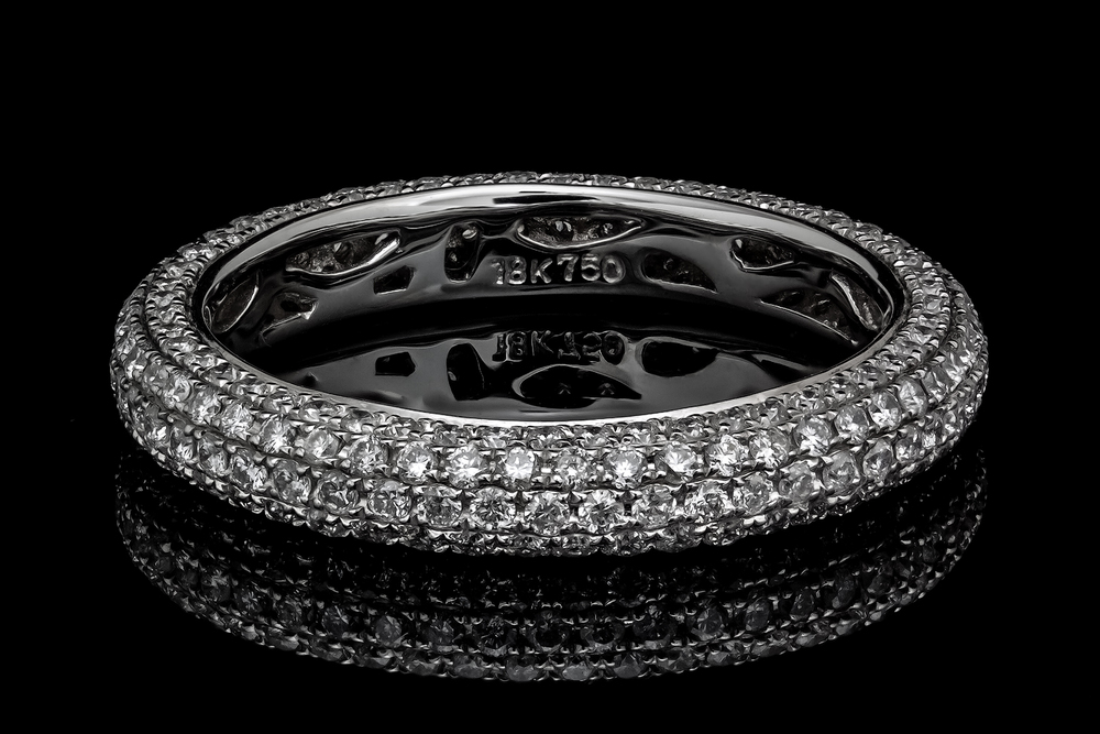 Pave Setting Diamond White Gold Eternity Ring by AVprophoto