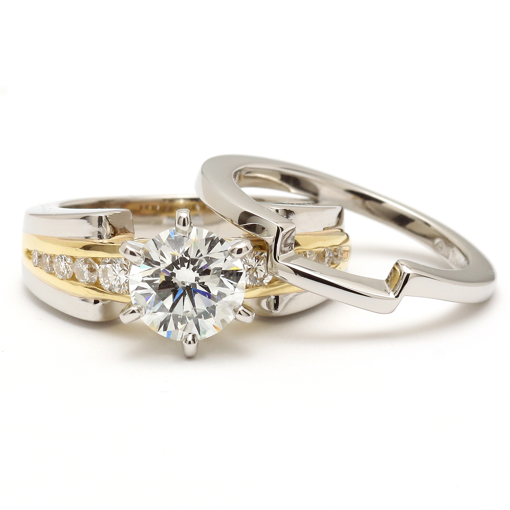 Gold Platinum Diamond Engagement Wedding Ring by AVprophoto