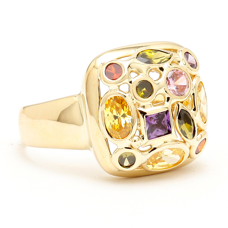 Vintage Italian Multicolored Gemstone Ring by AVprophoto