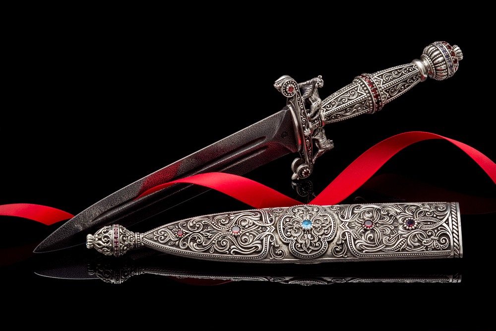 Damascus Steel Dagger by AVprophoto
