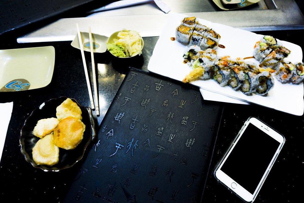 Sushi restaurant in Woodbury, MN. California Rolls. Sushi order.