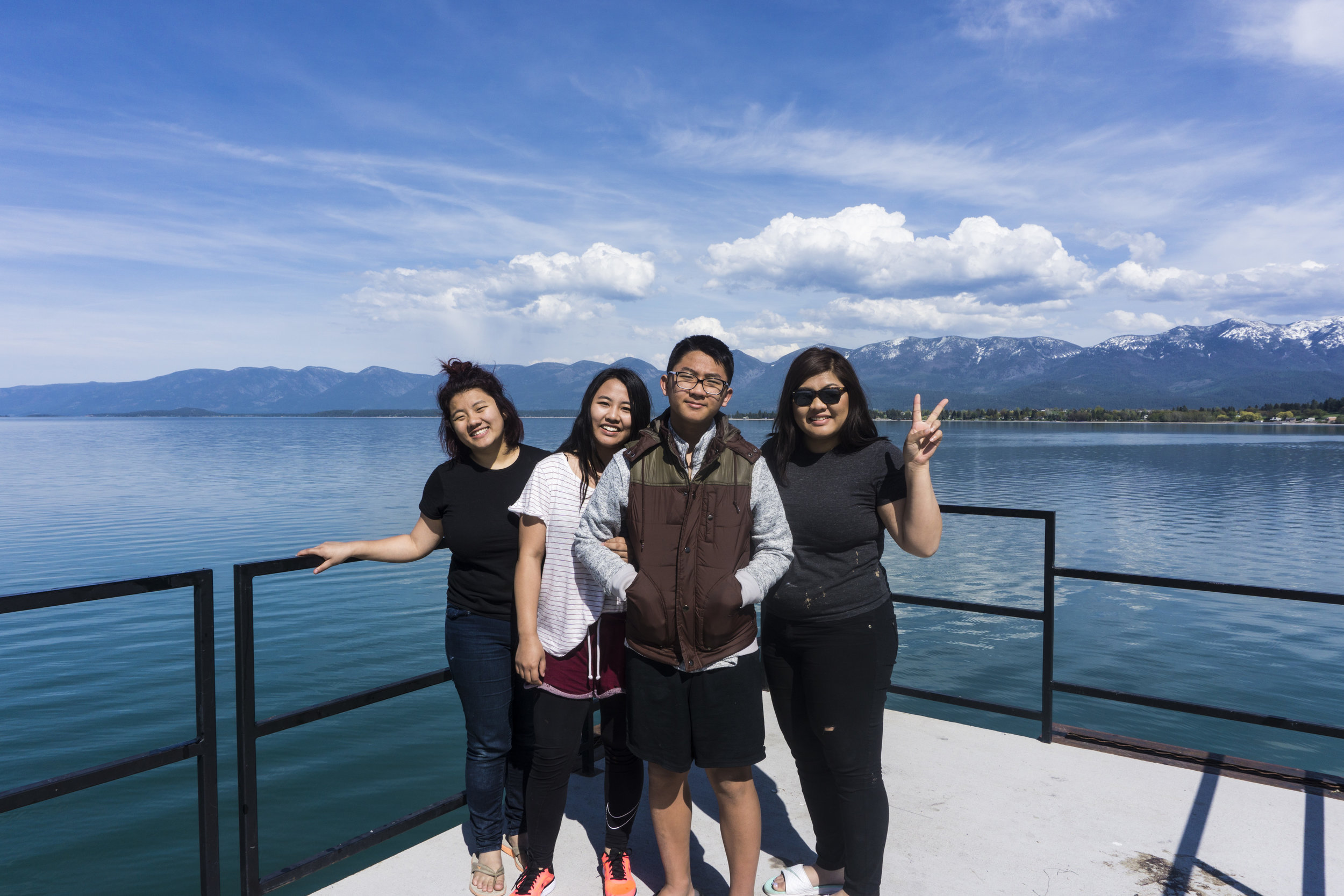 An Unexpected 4 Day Road trip to Montana. The Vang Family. Livia Vang. Polson, Montana. Flathead Lake, Lake Mcdonald, Glacier National Park. yellowStone National Park, Traveling Sisters and Brothers. Siblings.