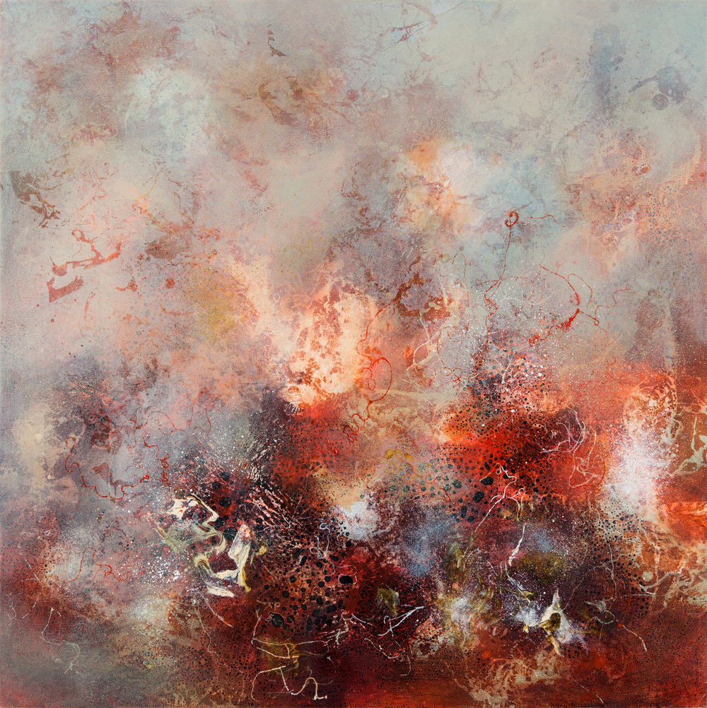 Primal Matter III, oil on canvas, 102 x 102 cm
