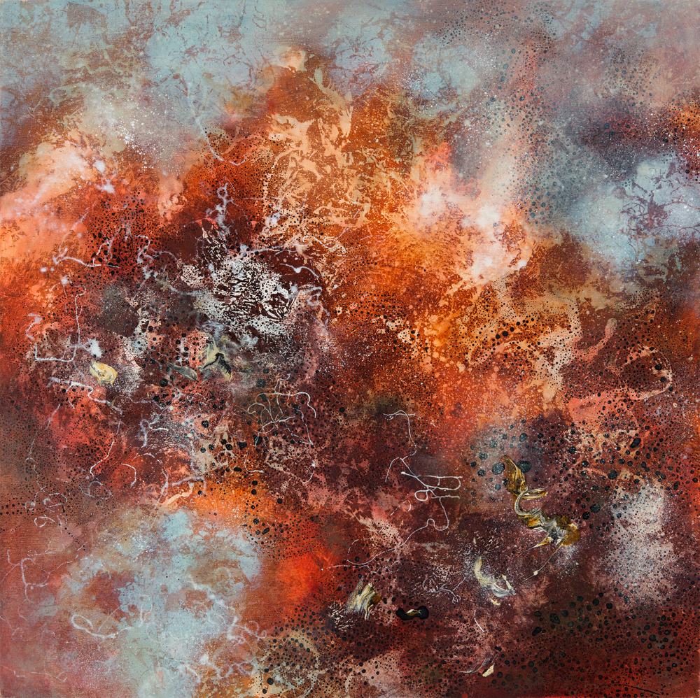 Primal Matter II, oil on canvas, 102 x 102 cm