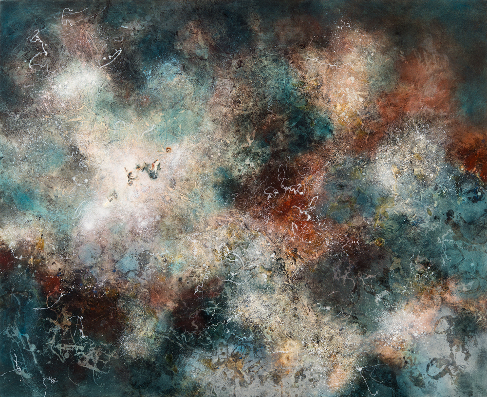 Nebula III, oil on canvas, 130 x 160 cm