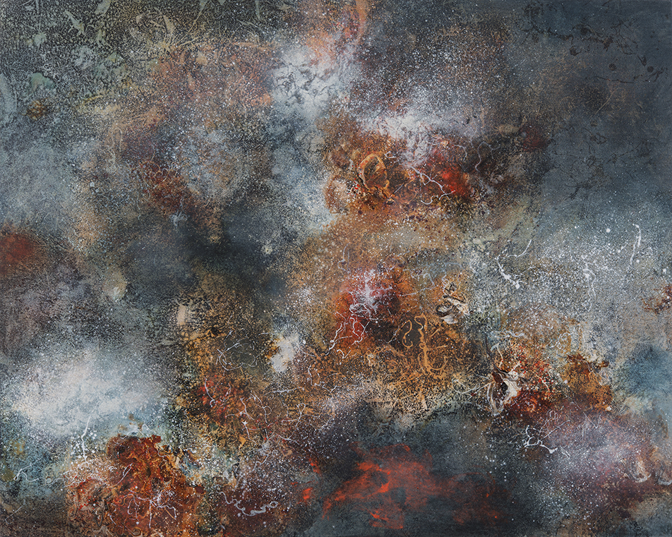 Birth of Galaxies, oil on canvas, 102 x 127 cm, SOLD