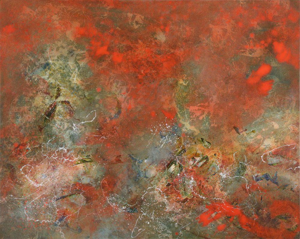 Volatile Rhythm, oil on canvas, 102 x 127 cm, SOLD