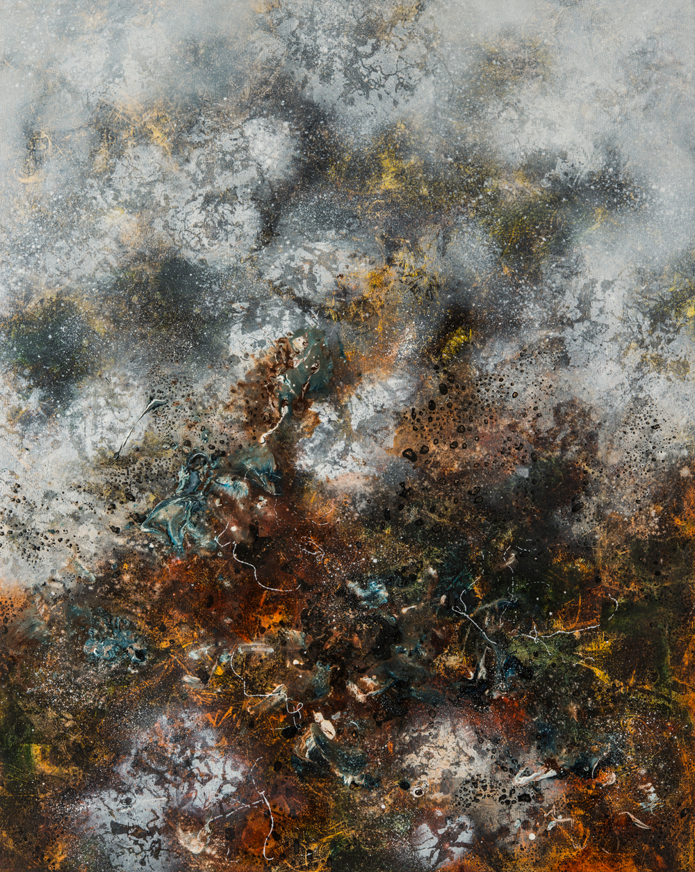 Eruption, oil on canvas, 127 x 102 cm