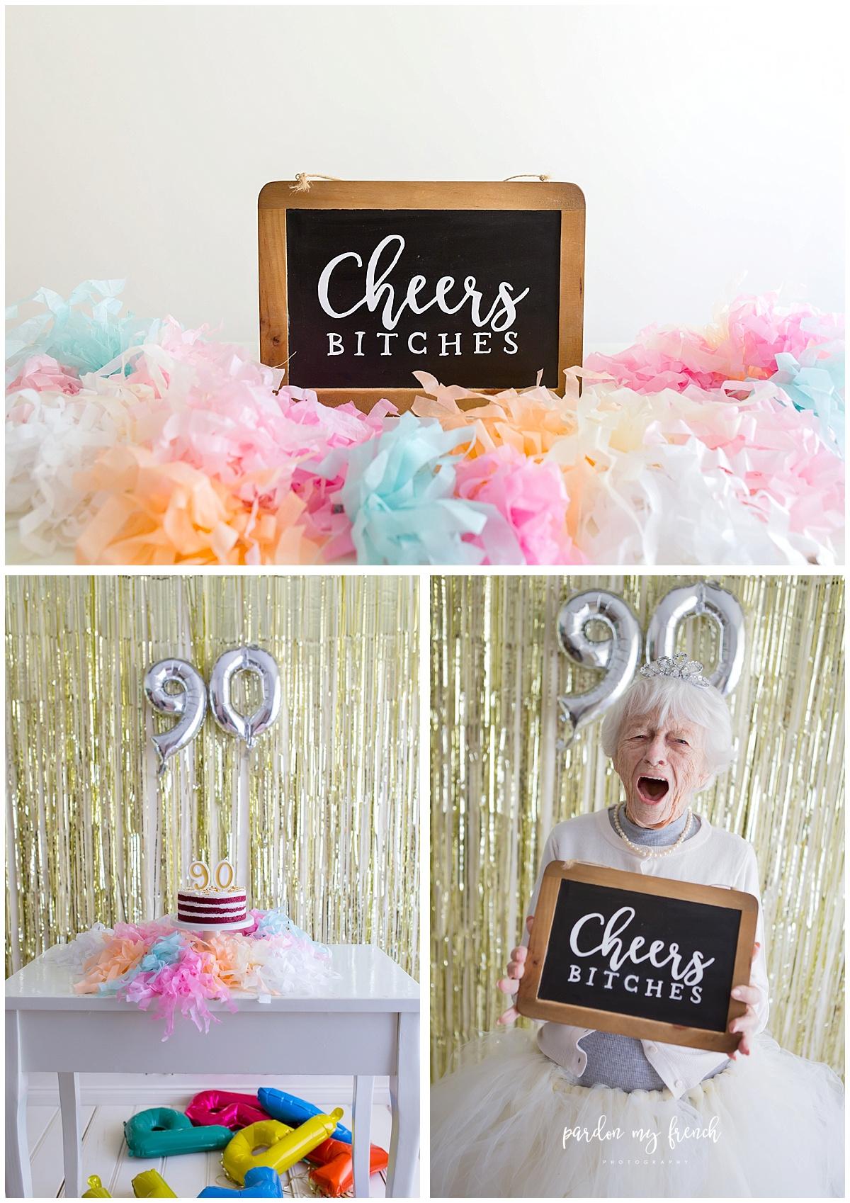Adelaide Photographer 90 Year Old Birthday Cake Smash Copyright Pardon My French Photography 1