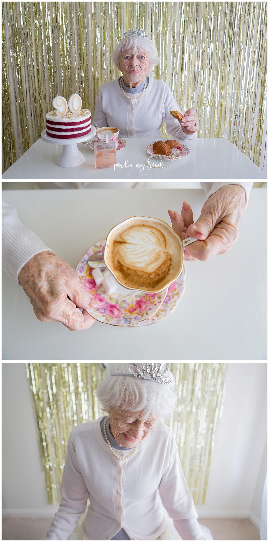 Adelaide Photographer 90 Year Old Birthday Cake Smash Copyright Pardon My French Photography 9