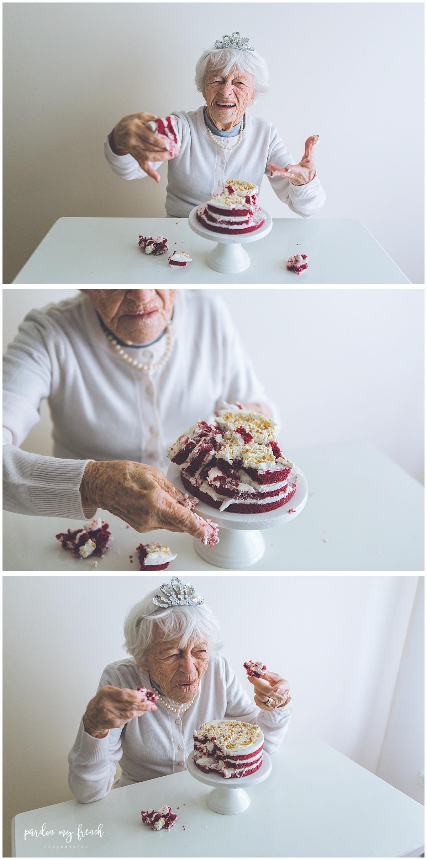 Adelaide Photographer 90 Year Old Birthday Cake Smash Copyright Pardon My French Photography 14