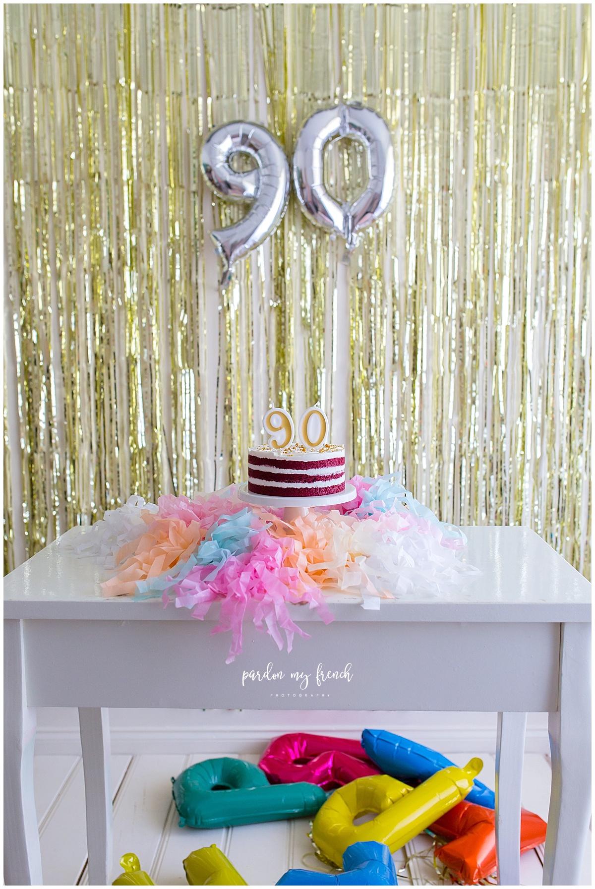 Adelaide Photographer 90 Year Old Birthday Cake Smash Copyright Pardon My French Photography 8