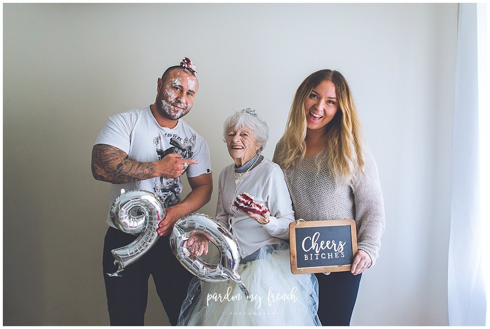 Adelaide Photographer 90 year old birthday cake smash copyright Pardon my French Photography 18.jpg