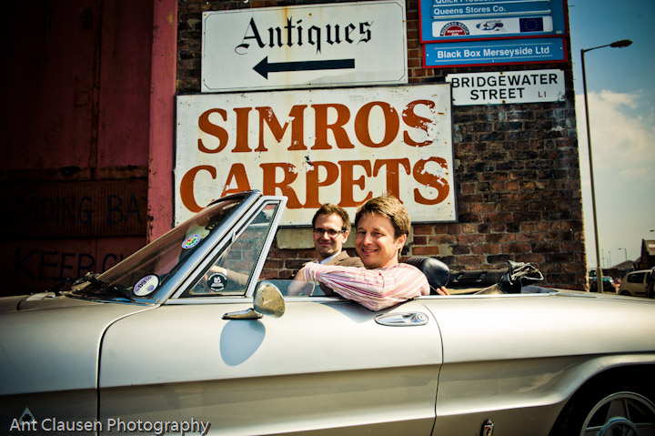 photography,Jonathan Pratt and Charles Hanson at the new series tv show on bbc of antiques road trip, 2010, liverpool, ant, clausen, photographer