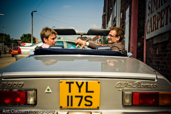 photography,Philip Serrell and Charles Hanson at the new series tv show on bbc of antiques road trip, 2010, liverpool, ant, clausen, photographer