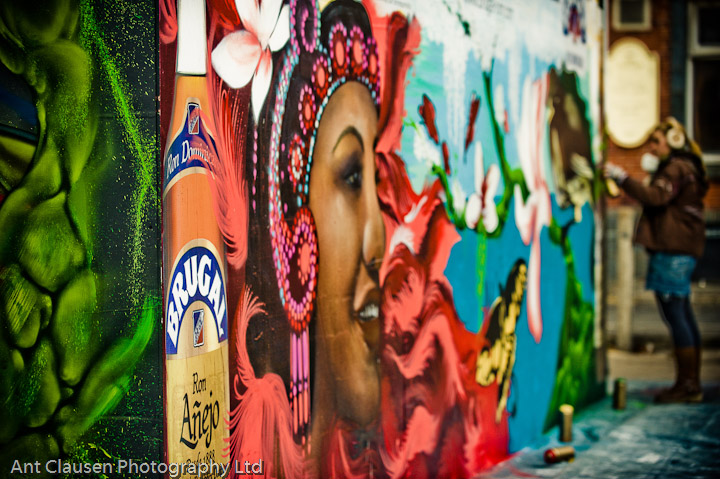 photos of brugal rum promotion, street art, manchester, photography, pics, festival, event, photography