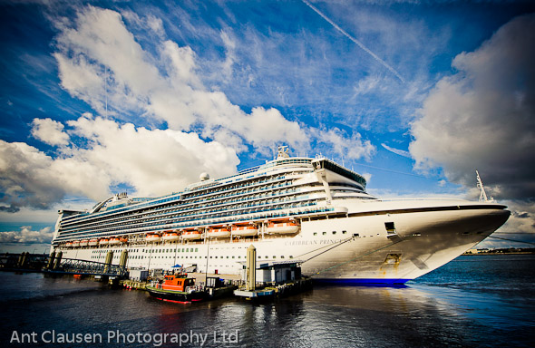 photos of caribbean princess in liverpool, photography, pics, cruise terminal, event