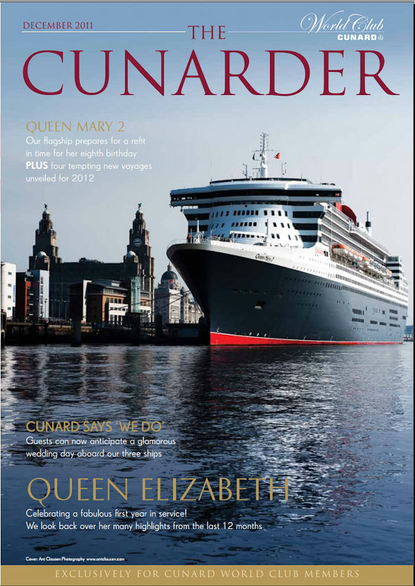 photos of queen mary 2 in cunarder magazine ant clausen photography
