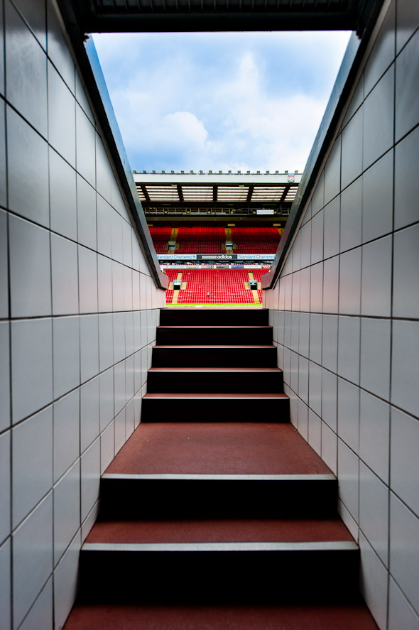 photo - walking out onto anfield liverpool football club