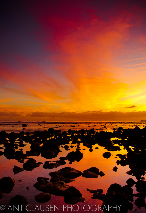 photo of sunrise in rarotonga