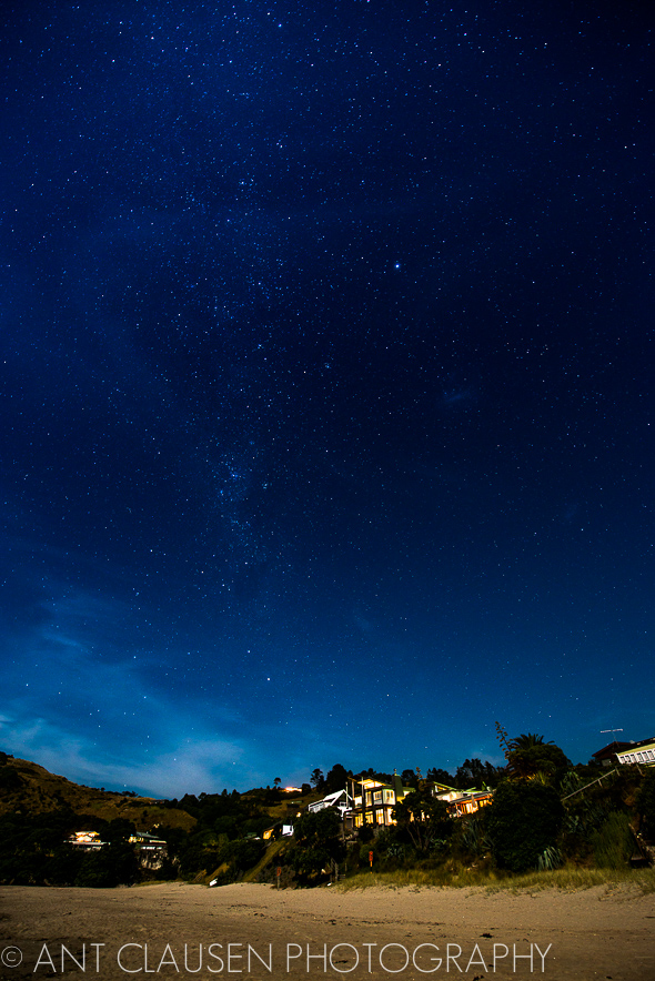 hahei coromandel photo of night sky