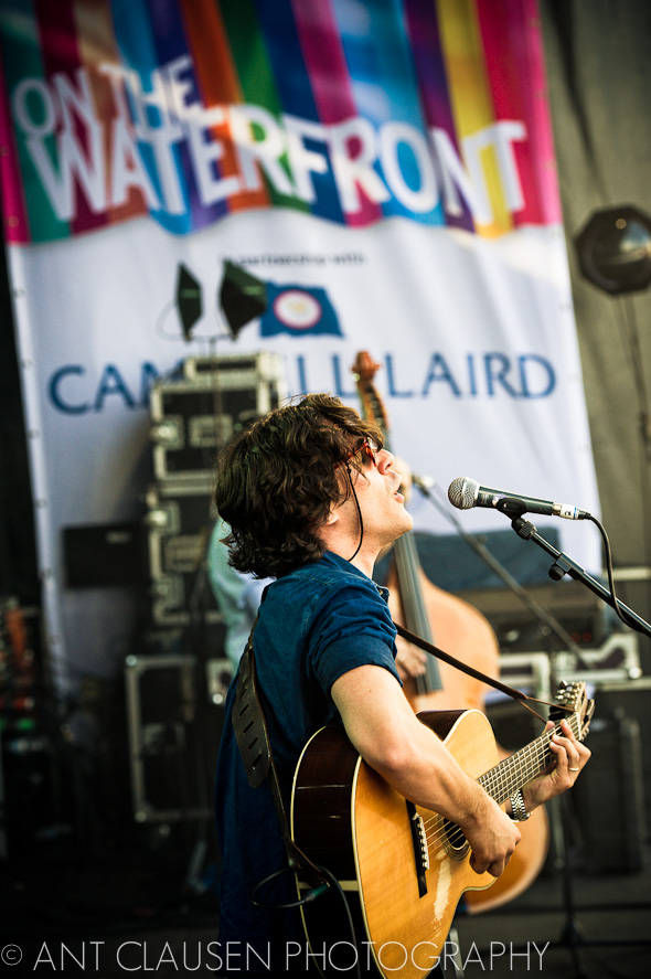 photo of jack savoretti playing in liverpool on the waterfront