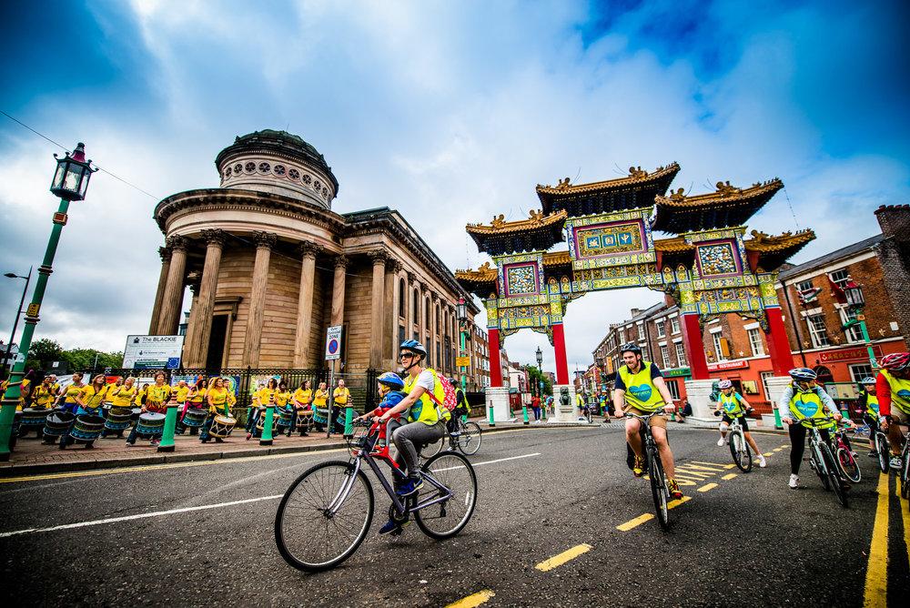 Sky Ride through Liverpool city centre and Sefton Park - 2016