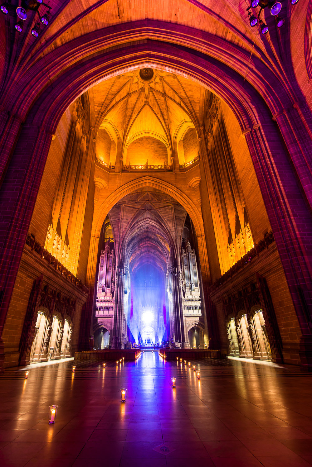 Photo of the Ben Fogle event in Liverpool Anglican Cathedral
