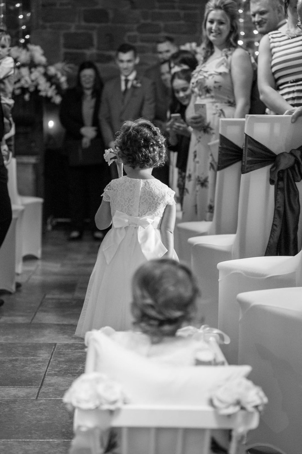 Baby Wedding Carriage Down The Aisle