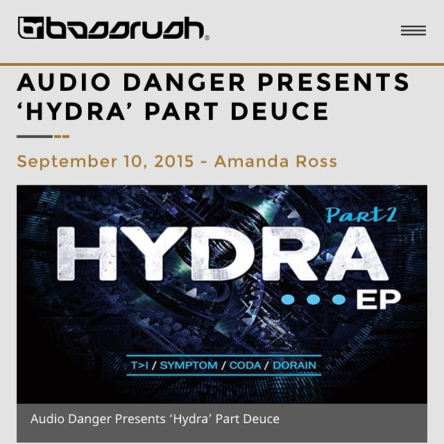 Thanks #BassDriveUSA for the review of the #HydraEpPart2  #AudioDanger #coda #ti #dorian #symptom #jimmydanger #drumandbass #dnb