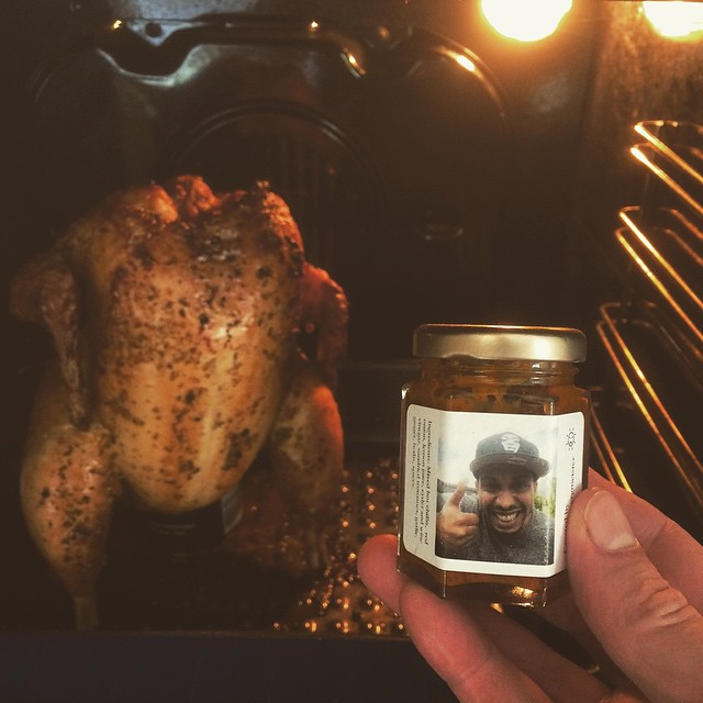 #BeerCanChicken with @injamusic #HotSauce  #audioDangerFlavours