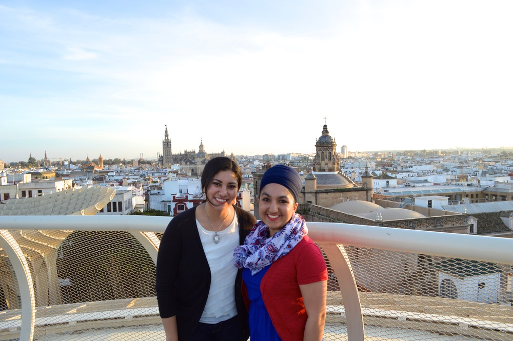 On top of Las Setas in Sevilla, España with my travel buddy & good friend, Ann.