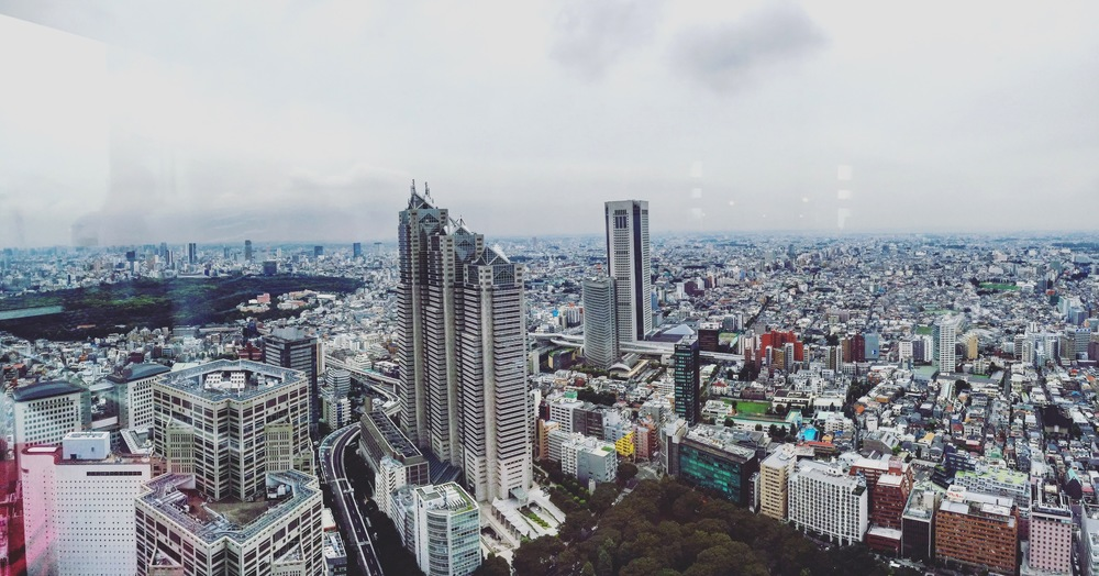 Tokyo skyline from the Metropolitan Government Building.