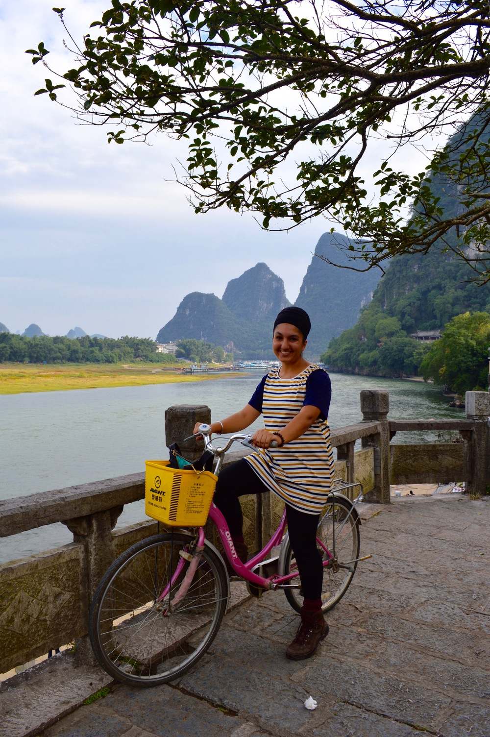 Cycling around Yangshuo County.
