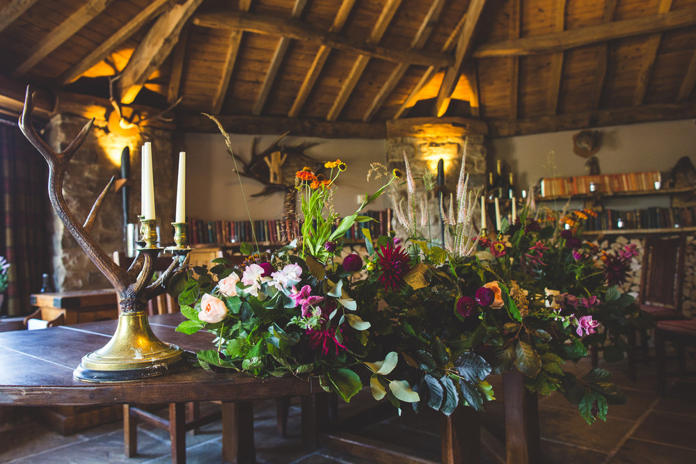 Ceremony flowers Star at Harome