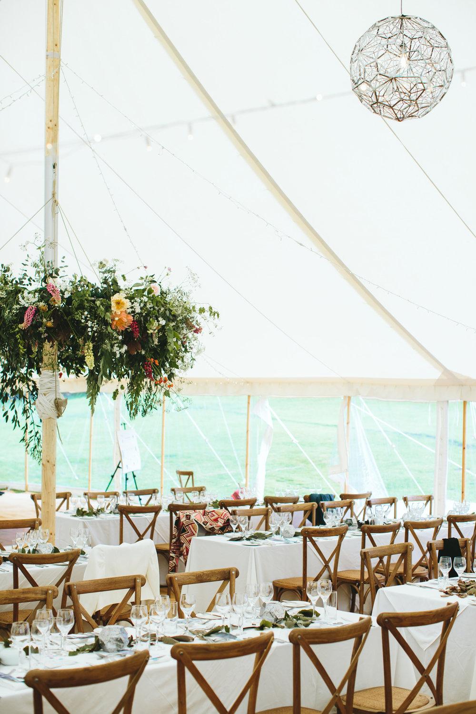 Tom Dixon light and floral chandelier