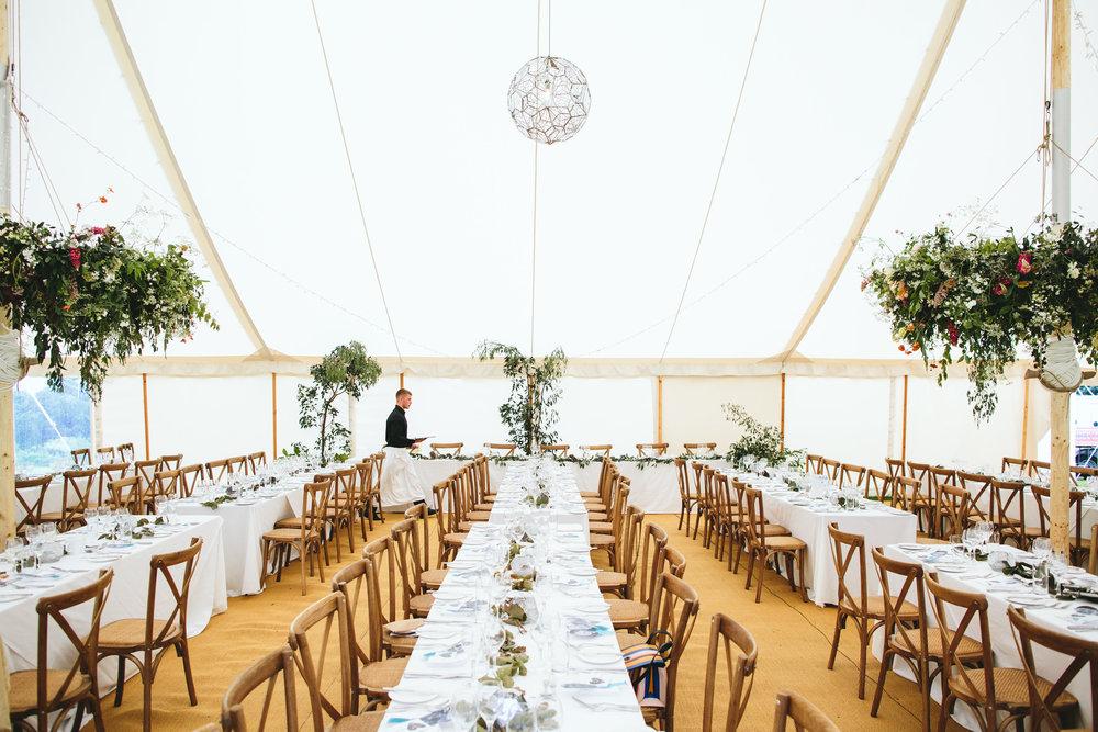 Yorkshire wedding - marquee flowers