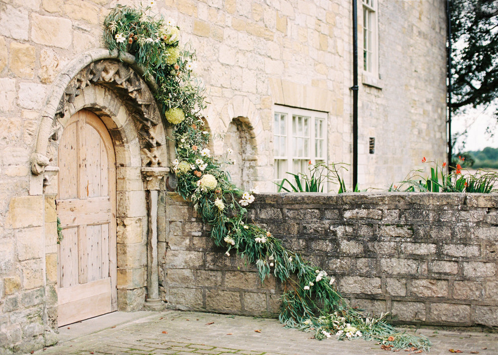 floral doorway