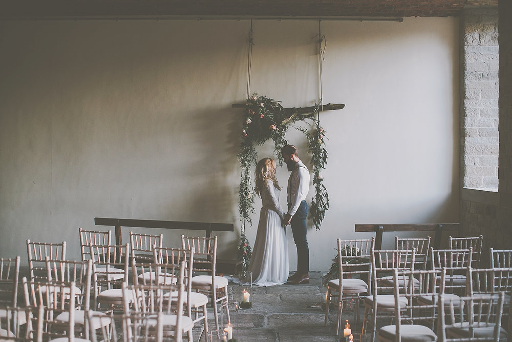 Industrial wedding venue - ceremony