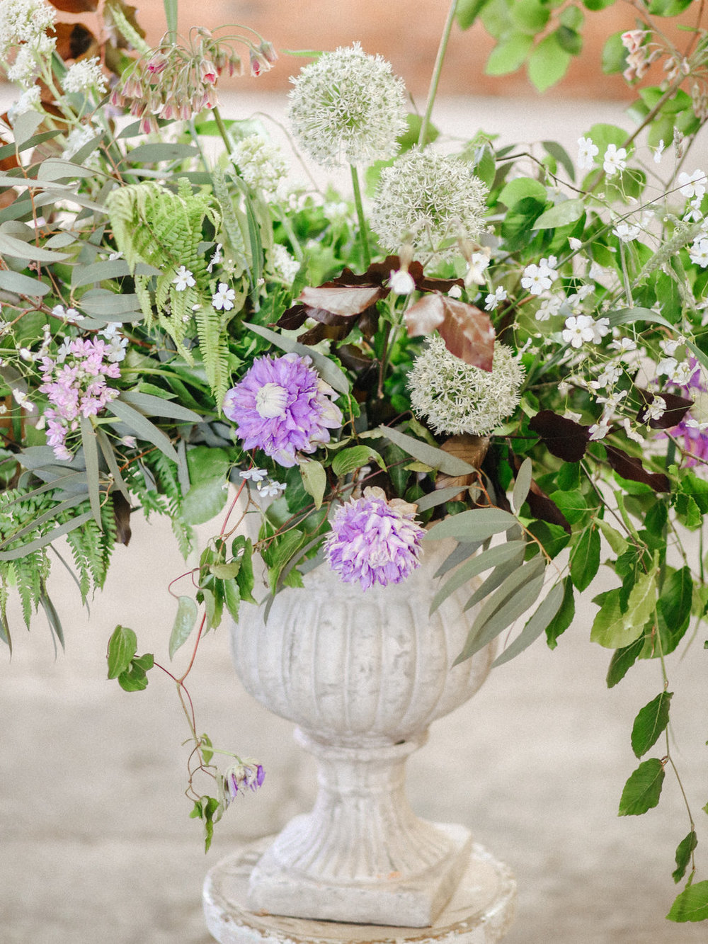 Students urn of British flowers