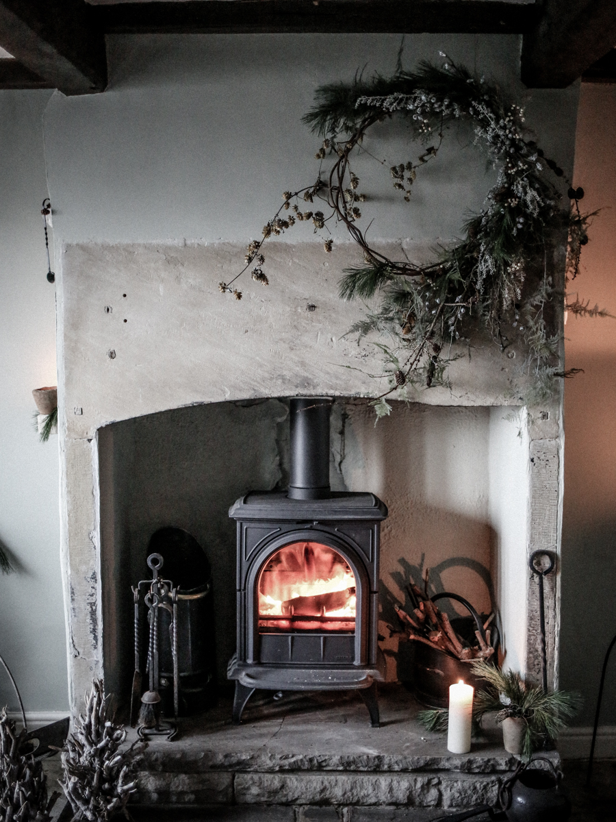 extra large winter wreath - twig base. Image  Belle and Beau