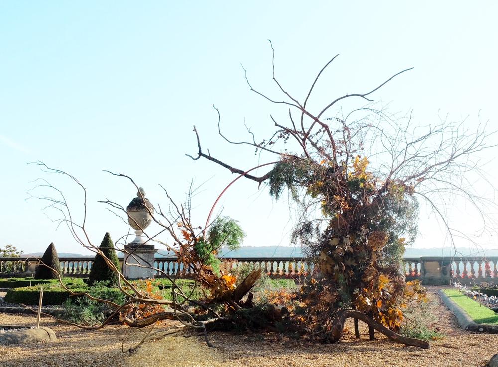 foraged wreath installation